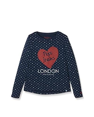 Pepe Jeans London Camiseta Manga Larga Carlota Azul Marino