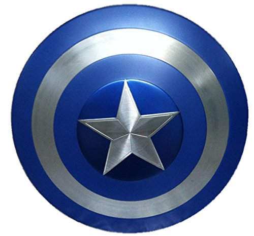 Gmasking Aluminum Alloy Captain America Adult Shield 1:1 Blue Replica