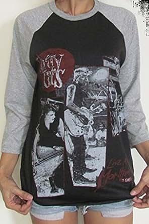 Stray Cats Raglan 3/4 Length Sleeve Baseball T-Shirt XL Black | Amazon