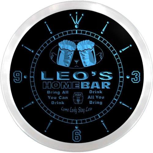 ncp0168-b-leos-home-bar-beer-pub-led-neon-sign-wall-clock-uhr-leuchtuhr-leuchtende-wanduhr