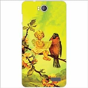 Intex Aqua 4.5E Back Cover - Silicon Bird Desiner Cases