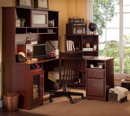 Cabot Collection L Desk Hutch Bookcase Office Store