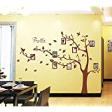 Oren Empower 2pc/set (Double Sheet) Brown Tree With Photo Frames (Finished Size On Wall - 216(w) X 160(h) Cm)...