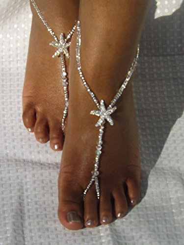 Swarovski Beach Wedding Foot Jewelry,Anklet,Destination Wedding Bridal Accessorie,Bridesmaids Gift