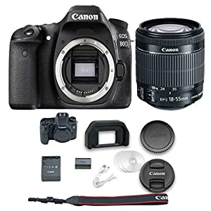 Canon 80D DSLR Camera + 18-55mm f/3.5-5.6 IS STM Lens + All Original Accessories Included - International Version