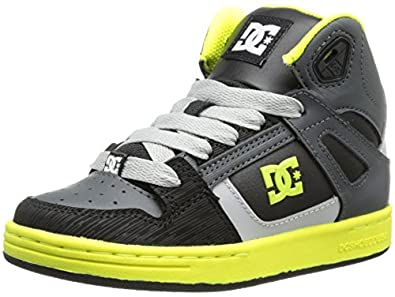DC Shoes Rebound Se, Baskets mode garçon - Noir (Bky), 32 EU