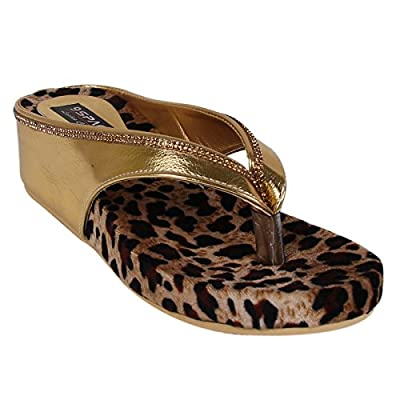 9SPACE Women's Golden Wedges