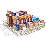 Shelf on Wheels Expandable Chrome Plated Pantry Pull Out Shelf, 12 by 12-Inch