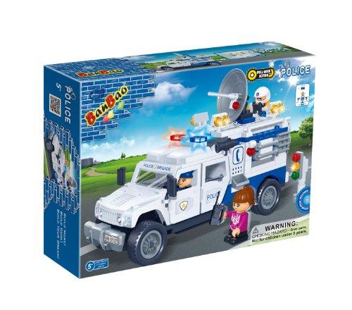 BanBao Police Car Toy Building Set, 290-Piece