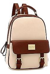 Your Gallery Retro Student Faux Leather Schoolbag Shoulder Bag Travel Preppy Rucksack