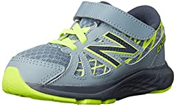 New Balance KV690I Running Shoe (Infant/Toddler), Grey/Yellow, 2 W US Infant