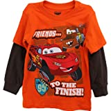 Disney Cars Friends... Orange LS T-Shirt w/ Knit Cuffs 2T-4T