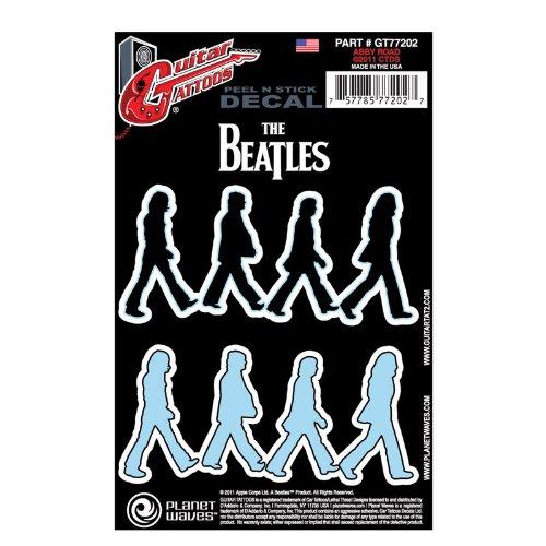 Planet-Waves-Beatles-Guitar-Tattoo-Sticker-Abbey-Road