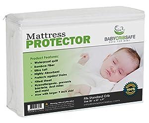 Amazon Best Crib Mattress Pad Protector 100%