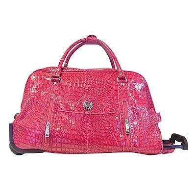 LYDC Snake Print Fashion Holdall/Weekend Bag/Trolley Bag