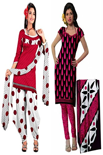 Araham soft crepe / American crepe dress material / unstitched Salwar Suit pack of 2 combo No 509