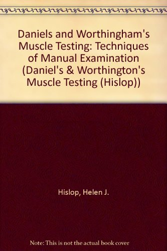 Daniels and Worthingham's Muscle Testing: Techniques of Manual Examination (Daniel's & Worthington's Muscle Testing (Hislop)), by Helen J.