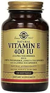 Solgar - Vitamin E, 400 IU, 100 softgels