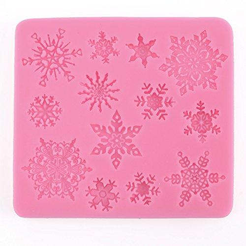 moule silicone flocon de neige pr pâte à sucre amande chocolat savon fimo résine