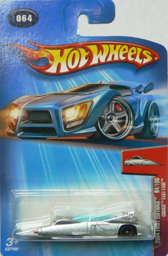 Hot Wheels 2004 First Editions Crooze Fast Fuse 64/100 SILVER 064 - 1