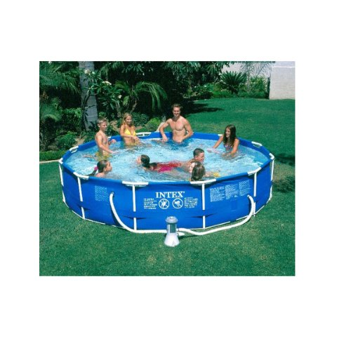 Where to easily buy intex 12 39 x 30 metal frame above ground swimmming pool w filter pump for Metal frame swimming pool 12 x 39