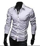 (ボリショーイ)完璧 フィッティング カット メンズ カジュアル 長袖 ストライプ シャツ M サイズ オリジナル バッグ セット