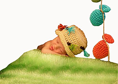 CX-Queen Baby Photography Prop Costume Crochet Knitted Fisherman Hat Fish Outfit