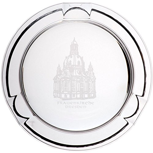 """Ashtray, lead crystal ashtray, cigar, cigarette, Collection """"FRAUENKIRCHE"""" Ø 12 cm, transparent, lead crystal, modern style (GERMAN CRYSTAL powered by CRISTALICA)"""