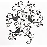 DecorField Decorativ Branches and Birds Design Wall Hanging Candle Holder Sconce - 5 Tea Light Cups