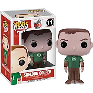Funko POP Television: Sheldon Cooper Green Lantern Vinyl Figure,Colors May Vary