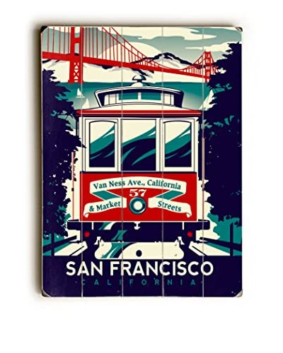 Artehouse San Francisco Trolley Wood Wall Décor