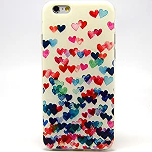 iPhone 6 Case, iPhone 6 (4.7 Inch) Case - LUOLNH Fashion Style Colorful Painted Colorful Heart Shape TPU Case Back Cover Protector Skin For iPhone 6 4.7Inch(Colorful Heart Shape)