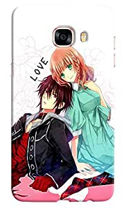 Omnam Emotional Love Pose From Cartoon Couple Desinger Back Cover Case For Samsung Galaxy C7