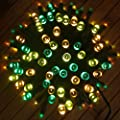 RockBirds 65Ft 20m Lighting Chain 200 LED Outdoor String Light Solar Powered Waterproof Starry Fairy Lighting New Year's Christmas Decoration Flashing Lights