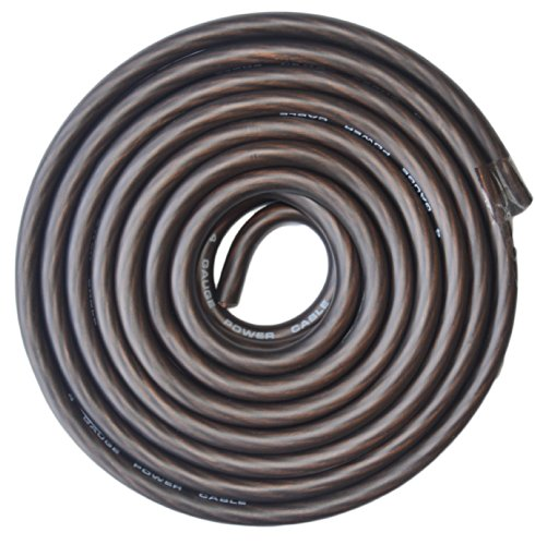 4 Gauge Black Amplifier Amp Power/Ground Wire 25 Feet SuperFlex Cable 25'