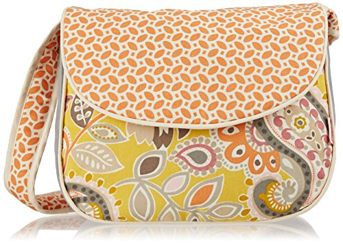 Hoohobbers Messenger Diaper Bag, Yellow Flirty Flowers