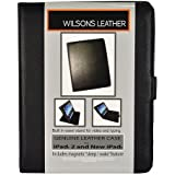 Wilsons Genuine Leather Case for iPad 2 and New iPad - Black, Tab Enclosure