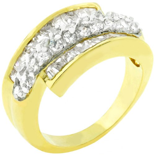 4.5 CT Anniversary 14k Yellow Gold Plated CZ Ring Size 5