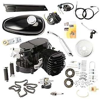 hpcutter moteur essence 80cc 2 temps kit de motorisation pour v lo 2 temps 80cc silencieux. Black Bedroom Furniture Sets. Home Design Ideas