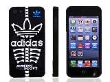 iPhone5 ケース 【adidas×Jeremy Scott】アディダス×ジェレミースコットコラボケース ブラックスカル