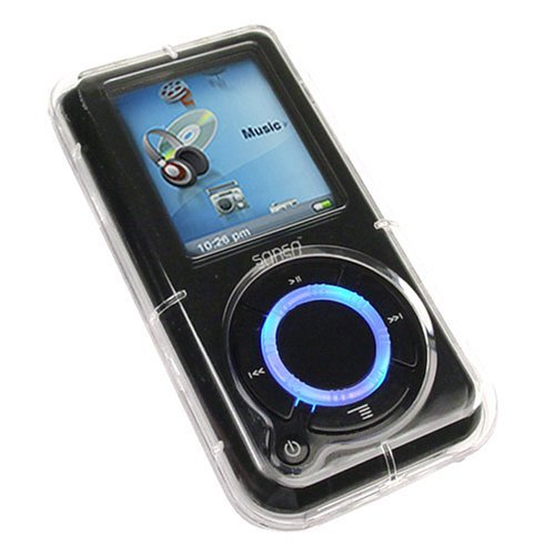 Black Soft Skin Cover w/ Armband for SanDisk Sansa Fuze MP3 & MP4 ...