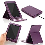 MoKo Case for Kindle Paperwhite, Premium Vertical Flip Cover with Auto Wake / Sleep for Amazon All-New Kindle Paperwhite (Fits All 2012, 2013 and 2015 Versions), PURPLE