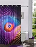 Lushomes Digitally Printed 3D Design Shower Curtain with 10 Eyelets