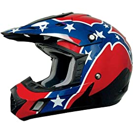 AFX FX-17 Rebel Flag Off-Road/ATV Motorcycle Helmet Black Large
