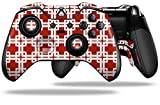 Boxed Red Dark Decal Style Skin Fits Microsoft Xbox One Elite Wireless Controller