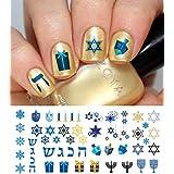 "Hanukkah Holiday Assortment Water Slide Nail Art Decals Set #1 Salon Quality 5.5"" X 3"" Sheet!"