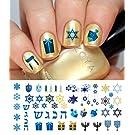 "Hanukkah Holiday Assortment Water Slide Nail Art Decals Set #1 - Salon Quality 5.5"" X 3"" Sheet!"