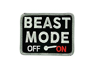 Patch ecusson brodé backpack Beast mode airsoft Veclro paintball tactical