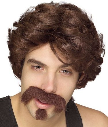 Rubie's Costume Co Big John Wig-Moustache/Goatee Costume (White Goodman compare prices)