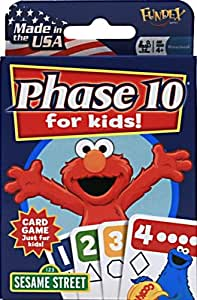 Sesame Street Phase 10 Card Game for Kids by Fundex